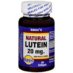 MON12282700 - Basic DrugLutein Supplement 20 mg, 40 per Bottle