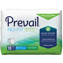 MON12323100 - First QualityPrevail® Nu-Fit® Maximum Absorbency Brief, Large, (45 to 58), 18EA/PK, 4PK/CS