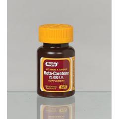 MON12562700 - ActavisBeta-Carotene Supplement 25000 IU Strength Capsule 100 per Bottle