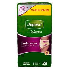 MON995025PK - Kimberly Clark Professional - Depend® Protective Underwear (12537), Large, 28/PK