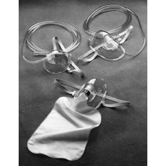 MON12603900 - CarefusionOxygen Mask AirLife Nasal / Oral One Size Fits Most Adjustable Elastic Head Strap