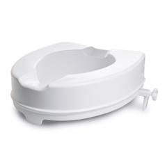 MON1095384EA - McKesson - Raised Toilet Seat 4 White 400 lbs.