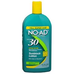 MON12841700 - Sun & Skin Care ResearchSunblock No Ad® SPF30 Bottle Lotion 16 oz.