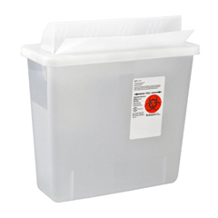 MON12852800 - MedtronicSharpSafety™ In Room Sharps Container, Always Open Lid, Clear, 3 Gallon