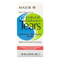 MON12872700 - Major PharmaceuticalsNatural Balance Tears Artificial Tears Hypromellose 0.4% Ophthalmic Drops, 15ml Dropper Bottle