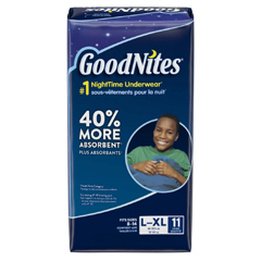 MON13153101 - Kimberly Clark ProfessionalGoodNites® Pull On Absorbent Underpants for Boys, Large/X-Large, 11/PK