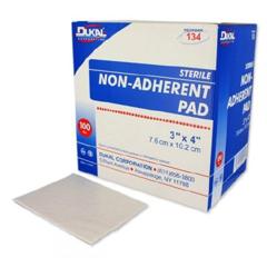 MON13422110 - DukalPad Non Adherent Str 3X4 100/BX 12BX/CS