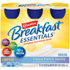 MON906177CS - Nestle Healthcare Nutrition - Oral Supplement Carnation Breakfast Essentials® Classic French Vanilla 8 oz. Bottle Ready to Use