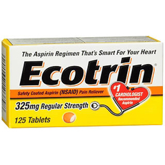 MON13792700 - Medtech LaboratoriesPain Relief Ecotrin 325 mg Strength Tablet 125 per Bottle
