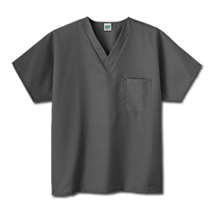 MON30388500 - White SwanFundamentals One Pocket V-Neck Scrubs Top, Granite, 3XL