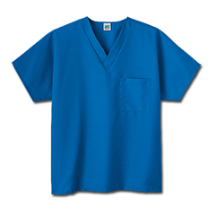 MON14068508 - White SwanFundamentals One Pocket V-Neck Scrubs Top, Royal Blue, Small