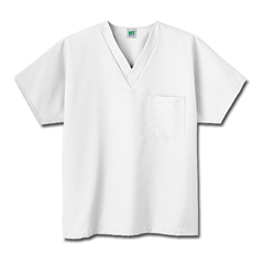 MON14058510 - White SwanFundamentals One Pocket V-Neck Scrubs Top, White, Medium