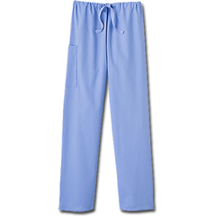 MON20278500 - White SwanFundamentals Unisex Drawstring Scrub Pants, Ceil Blue, Medium