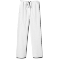 MON20418500 - White SwanFundamentals Unisex Drawstring Scrub Pants, White, Small