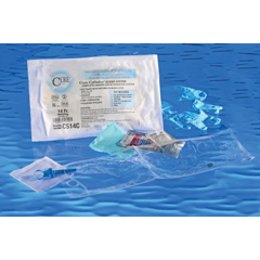 MON14141901 - Cure MedicalIntermittent Catheter Cure Catheter Closed System / Coude Tip 14 Fr. (CS14C)