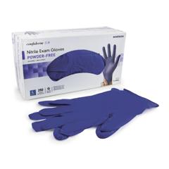 MON14361300 - McKessonExam Glove Confiderm NonSterile Powder Free Nitrile Textured Fingertips Blue Large Ambidextrous