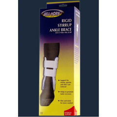 MON14443000 - DJOAir / Gel Ankle Brace Short Hook and Loop Strap Closure Left or Right Ankle