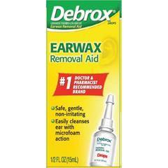 MON14782700 - Glaxo Smith Kline - Ear Wax Remover Debrox® 0.5 oz. Otic Drops 6.5% Strength Carbamide Peroxide, 1/EA