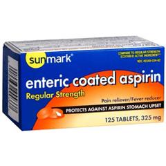 MON14802700 - McKessonAspirin Sunmark® Tablets 325 mg, 125 per Bottle
