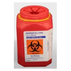MON15002800 - Post MedicalMulti-purpose Sharps Container 1-Piece 1.5 Quart Red Base Vertical Entry Lid