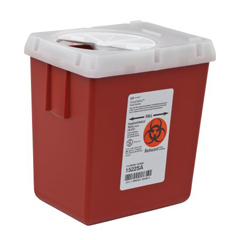 MON15222860 - MedtronicSharpSafety™ Sharps Container, Phlebotomy, Red, 2.2 Quart
