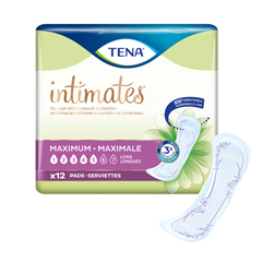 MON15543100 - SCABladder Control Pad TENA® Intimates™ Maximum 13 Inch Length Heavy Absorbency Dry-Fast Core™ One Size Fits Most Female Disposable, 12/BG