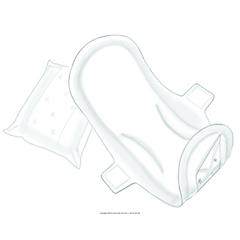 MON15883100 - MedtronicFeminine Pad Versalon® Winged High, 16EA/BG 12BG/CS