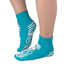 MON16001002 - PBE - Slipper Socks Pillow Paws Teal Ankle High