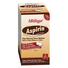 MON16132700 - Medique ProductsPain Reliever Aspirin® Enteric Coated Tablet 325 mg, 2EA/PK 250PK/BX