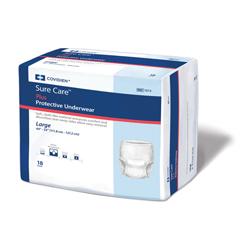 MON16153101 - MedtronicSure Care™ Plus Protective Underwear - Large, 18/PK