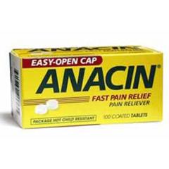 MON16272700 - Emerson HealthcarePain Reliever Anacin® Tablet 100 Per Bottle 200 mg, 100EA/BT