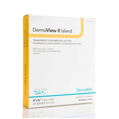 MON946648BX - Dermarite - DermaView II™ Island Transparent Film Dressing with Pad (16310), 25/BX