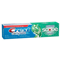 MON16321700 - Procter & GambleToothpaste Crest Whitening with Scope Mint Fresh Flavor 2.7 oz. Tube (1615327)