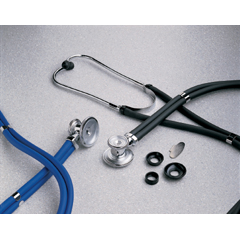 MON16422500 - McKessonSprague - Rappaport Binaural Stethoscope entrust® Performance Plus Lavender 2-Tube 22 Inch Dual Head
