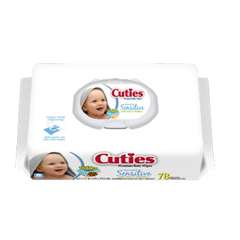 MON16523101 - First QualityBaby Wipe Cuties Soft Pack 72 per Pack