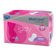 MON16543101 - HartmannBladder Control Pad MoliCare® Premium Moderate Absorbency One Size Fits Most Female Disposable, 14/BG