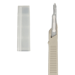 MON16552500 - DynarexMedicut Scalpel Surgical Size 15 Stainless Steel Blade Plastic Handle Disposable