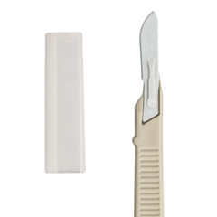 MON16662510 - DynarexMedicut Scalpel Surgical Size 10 Stainless Steel Blade Plastic Handle Disposable