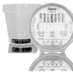 MON16712400 - Alere - Drugs of Abuse Test iCup® Dx 6-Drug Panel with Adulterants BZO, COC, mAMP/MET, OPI, OXY, THC (BL, CR, NI, pH, SG) Urine Sample CLIA Waived 25 Tests