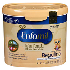 MON16722600 - Mead Johnson NutritionInfant Formula Enfamil® Reguline 12.4 oz. Canister Powder
