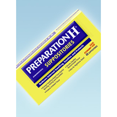 MON16982700 - PfizerHemorrhoid Relief Preparation H® Suppository 24 per Box, 24EA/BX