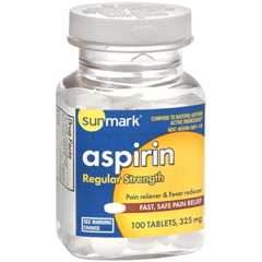 MON17382700 - McKessonPain Reliever sunmark® Tablets 325 mg, 100 per Bottle