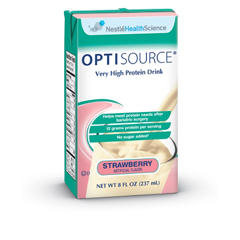 MON17482600 - Nestle Healthcare NutritionOral Supplement Optisource® Strawberry 8 oz.