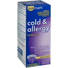 MON17972700 - McKessonChildrens Cold and Allergy Relief sunmark 2.5 mg / 1 mg Strength Liquid 4 oz.