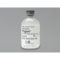 MON18018901 - TiganTigan Antinausea Agent Trimethobenzamide HCl 100 mg / mL Intramuscular Injection Multiple Dose Vial 20 mL