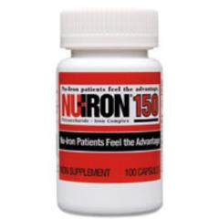 MON18122700 - Merz PharmaceuticalsIron Supplement Nu-Iron 150 Capsule 100 per Bottle