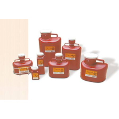 MON18202800 - Medical Action IndustriesMulti-purpose Sharps Container SharpStainer® 1-Piece 11H X 10W X 6D Inch 6.2 Quart Red Base Vertical Entry Lid