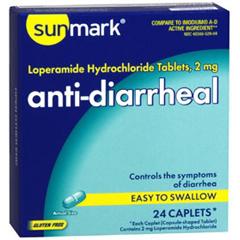 MON18302700 - McKessonAnti Diarrheal sunmark® Caplet, 24/CT