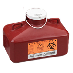 MON18412800 - Medical Action IndustriesMulti-purpose Sharps Container SharpStainer® 1-Piece, #184R