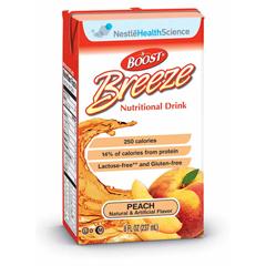 MON18642600 - Nestle Healthcare NutritionResource Breeze Peach Flavor 8 oz. Brik Pak 0.76 Cal/ml